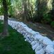 Sandbags stacked to prevent local natural flooding. (Cottonwood Heights City)