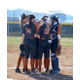 Brighton defenders huddle together. (Sam Puich/ Brighton Softball head coach)