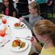 Kiara Lozano-Bless, Zoie Addington-Borman and Robyn Evans showcase the good manners taught in their etiquette class. (Carla Dalton/Granite Food Services)