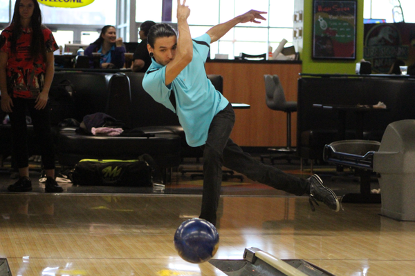 Tyler Pullman bowls at Fat Cats in April. The Holladay native is headed to his first nationals competition in July. (Travis Barton/City Journals)