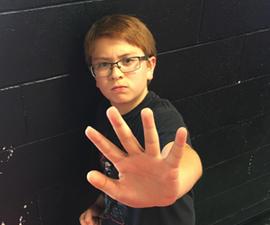 Medium child stop thumb