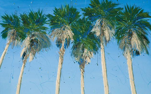 Boca Grande Palms Acrylic on canvas