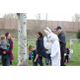 Familes got to interact with the Easter Bunny during the Easter Egg Hunt. The event was hosted by the Sugar House Chamber. (Allie Nannini/City Journals)
