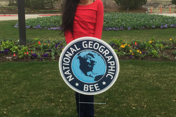 Anoushka Kharkar has placed second once and third twice at the Utah Bee but was unable to break into first place this year, her last year of competition. (Pallavi Ranade-Kharkar/parent)