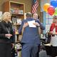 "The Jordan Education Foundation's ""prize patrol"" arrives at Columbia Elementary to award teacher Susan Locke. (Jet Burnham/City Journals)"