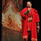 """Author Brandon Mull dressed in costume at the launch party to introduce his new book series, """"Dragonwatch,"""" which is a sequel series to his bestselling """"Fablehaven"""" series. (Brandon Mull/Shadow Mountain)"""
