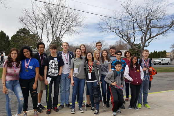 Bennion's MESA Club teams earned two silver medals and one gold medal in MESA Day events. (Andrew Gee/Bennion Junior High)