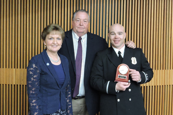 The Taylorsville Firefighter of the Year is Engineer Adam Halsey. (Taylorsville City)