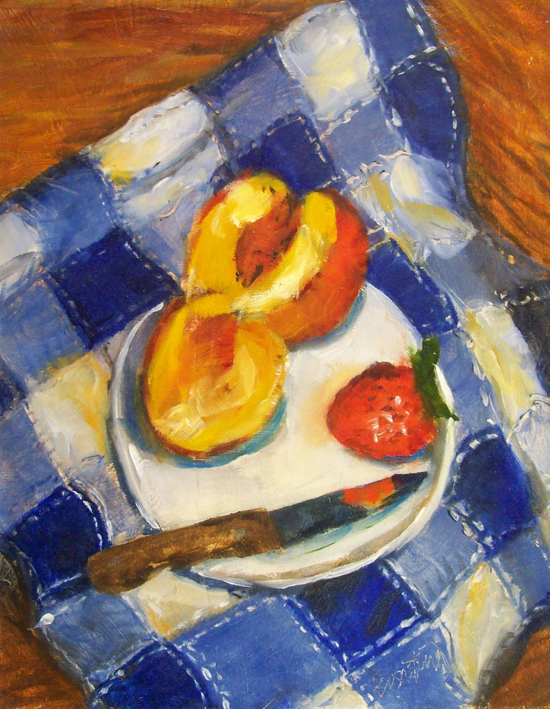 Peaches 20strawberry 20and 20knife 20op 2011x14 20650