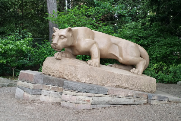 The Penn State Nittany Lion statue
