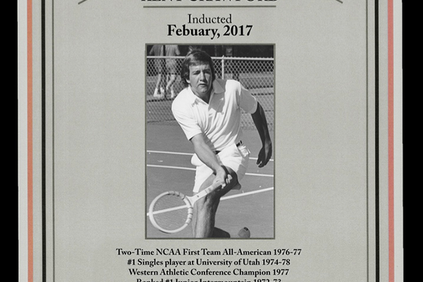 Kent Crawford's induction. (UT Tennis Hall of Fame)