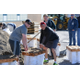 Councilman Mike Peterson helps residents fill sandbags for flooding preparation as Public Works Director Matt Shipp watches over them. (Dan Metcalf Jr./Cottonwood Heights City)