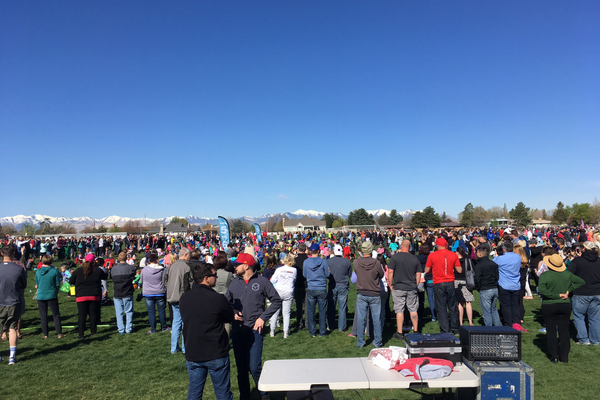 Over 3,000 people attended the Easter event hosted by the city. Children were divided by age group so they could hunt eggs. (Dan Metcalf/ Cottonwood Heights City)