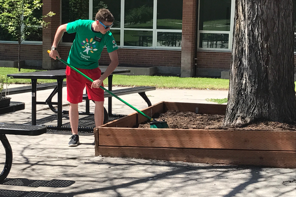 Missionaries from The Church of Jesus Christ of Latter-day Saints also helped in the event and helped put together the diversity garden. (Natalie Mollinet\City Journals).
