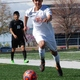 Sam Osorio clears away from his defender as he streaks toward the opponent's goal. (Murray Soccer Facebook)