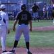Bingham's first baseman holds a Jordan runner on. (Billy Swartzfager/City Journals)