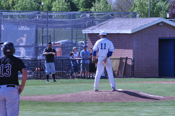 A Bingham pitcher from the stretch during the team's last home game. (Billy Swartzfager/City Journals)