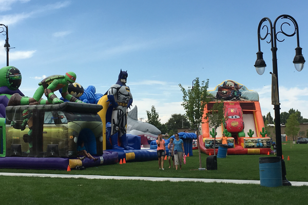 For the second year, the Riverton City Council voted to forgo a carnival at the Town Days festival. Instead, a Fun Zone consisting of inflatable slides, rock walls, obstacle courses and other activities will fill a section of the Riverton City Park. (Tori La Rue/City Journals)