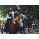 Representatives from the Salt Lake County Sheriff's office ride horses through Riverton City's 2016 Town Days parade route. (Tori La Rue/City Journals)