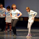 Dancers from Hartvigsen School partner with Chirons from Taylorsville High School for a dance assembly. Left to Right: Samantha Peisley and Demaris Jaramillo, Taimane Lewis and Isabelle Dal Canto (Granite School District)