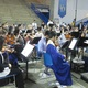 The school band performs 'A Nation's Prayer' at the beginning of the ceremony.
