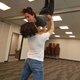 Melissa Jackson being lifted by Kayden Garcia. (Keyra Kristoffersen/City Journals)