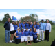 The Corner Canyon girls golf team stand behind their 4A state championship trophy. (Aimee Kartchner/Corner Canyon girls golf)