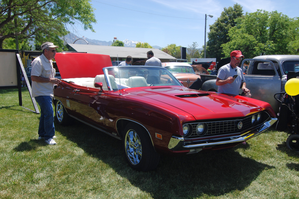 Grady Perkins shows off his 1970 Torino GT convertible (Keyra Kristoffersen/City Journals)