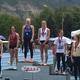Hannah Stetler stands atop the podium at the 2017 Class 5A state track meet (Hannah Stetler/Bingham Track Team)