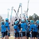 The West Jordan High School lacrosse players—featuring some Murray students—celebrate a win. (Tricia Mortensen)