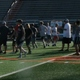Murray football hopefuls run through passing plays during one of their spring practices. (Carl Fauver/City Journals)