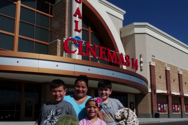 Dollar movie day is a frequent summer activity for Lori Larsen and her three kids. (Carl Fauver)