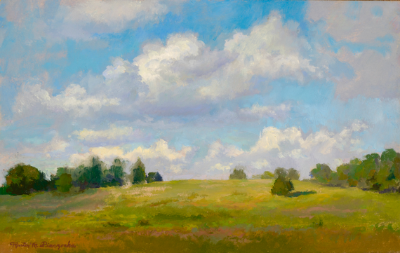 Martin m pieczonka  20east to west  206.5x10 plein air