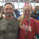 BHS coach Peter Lacasse shown with Sarah Edwards after a successful 2016 event