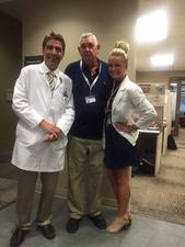 Jim Jewell with his primary doctor and nurse at Provision Healthcare in Tennessee