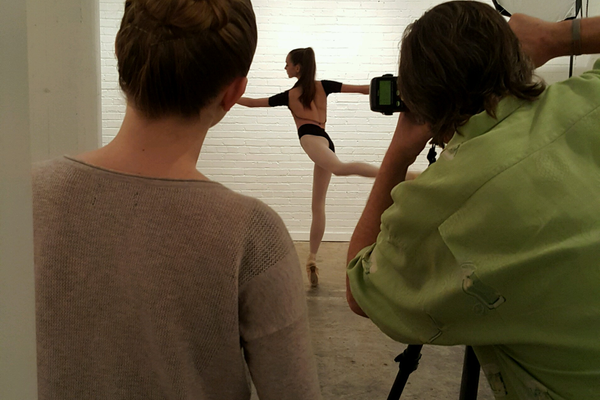 Draper teenager Annabella Oliver looks on during a photo shoot of the dancewear line she created. (Ronda Oliver)