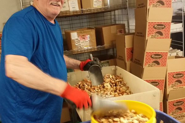 Making hand-twisted pretzels at Revonah Pretzel