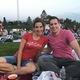 Good friends Rebekah Ellsworth and Scott Blakeslee at Movies in the Park. (Alisha Soeken)