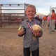 Seven-year-old Hayden Peak student Kaden Guymon won first place in Saturday night's mutton bustin' competition. (Natalie Conforto/City Journals)