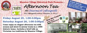 Manatee Village Historical Parks Afternoon Tea - start Aug 25 2017 0100PM