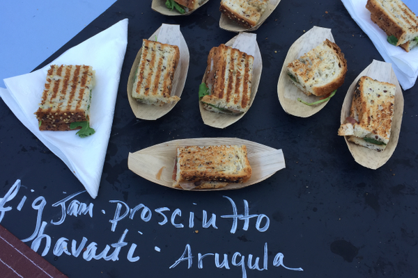 Fig jam and prosciutto sandwiches from The Ripe Choice Catering