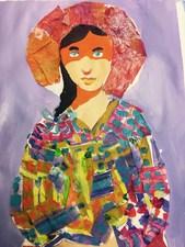Medium dunn mosaic lady photo