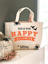 Medium trick or treat bag halloween tote diy