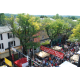 A bird's-eye view of the Mushroom Festival from the top of the Kennett Fire Company's hook and ladder truck.