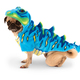 Blue Dinosaur Costume, $30, and Autumn Leaves Peanut Butter Treats, $24 for 8, at The Posh Puppy Boutique, 6040 Stanford Ranch Road, Suite 100, Rocklin. 916-435-3044, poshpuppyboutique.com