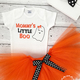 Mommy's Little Boo Halloween Outfit, $16.99+ at Lollipop Kid Boutique, handcrafted locally in Rocklin, etsy.com/shop/lollipopkidboutique