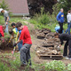 The Germantown High School National Honor Society took a month of Saturdays to help out at a new Habitat property with 300 man-hours spent by a crew of 55 teenagers and adult chaperones.