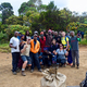 The Groves family and their guides and porters hanging out at camp on their way to the top of Kilimanjaro. (Jeff Groves)
