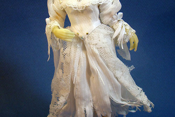 This 'White Lady' doll was a past creation that glows in the dark.