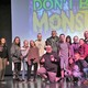 Presenters and students pose with Frank after Don't Be a Monster assembly at Wasatch Jr. High. (Photo courtesy Granite School District)